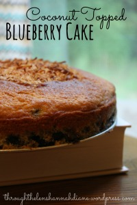 Coconut Blueberry Cake