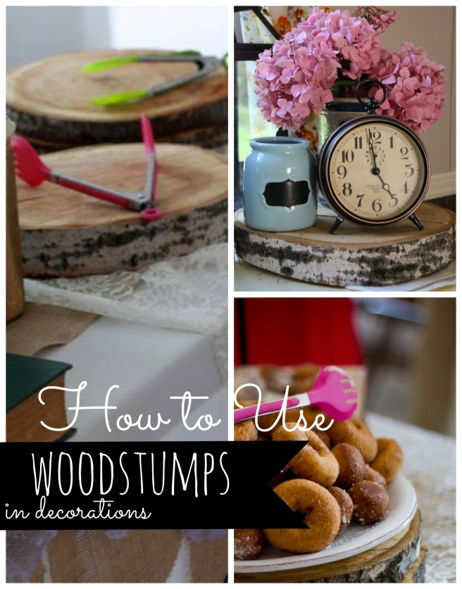 Woodstumps in Decor    Through The Lens of Hannah Diane