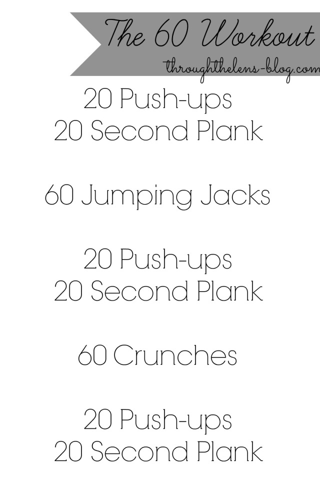 The 60 Workout