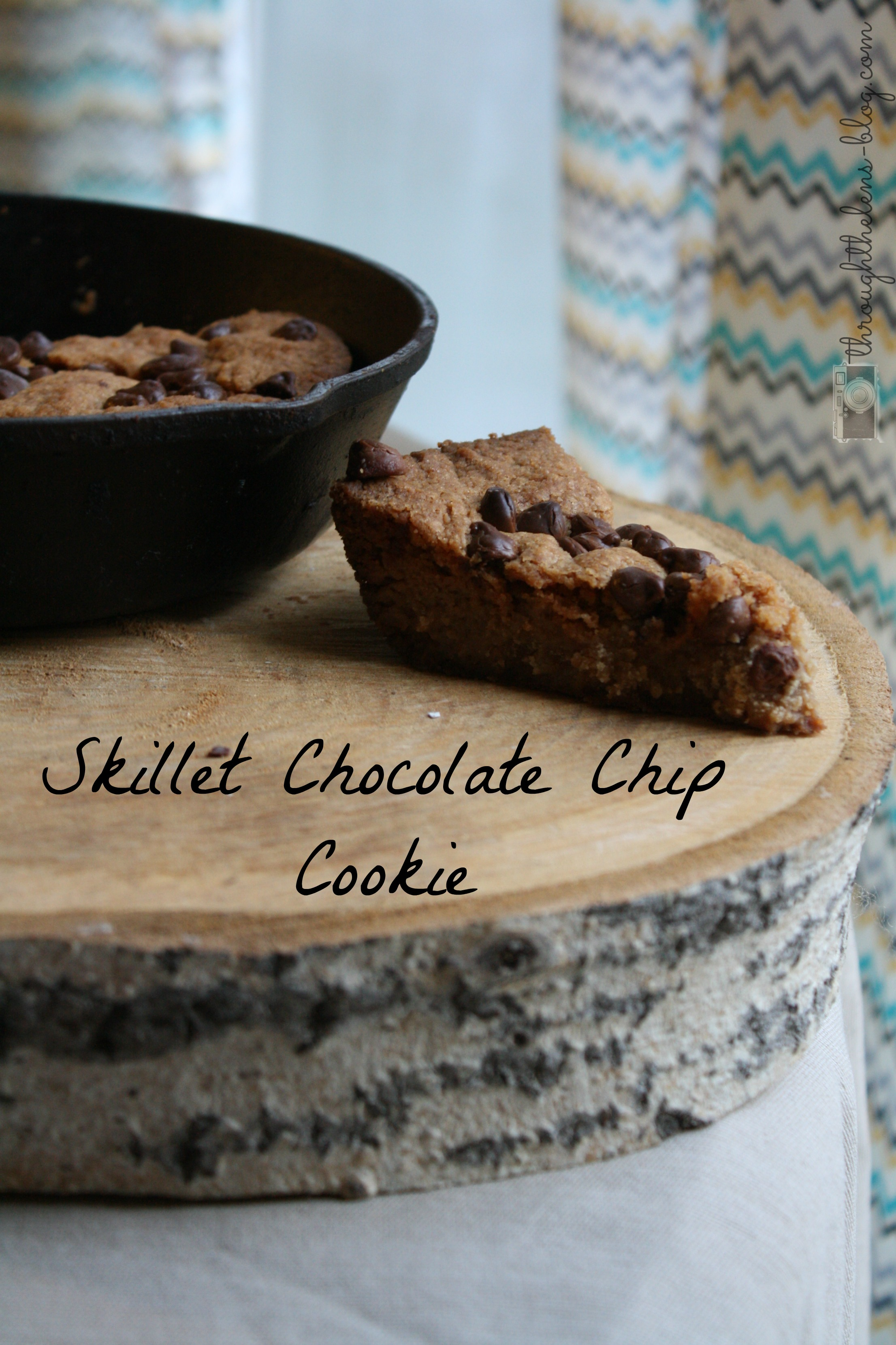 Skillet Chocolate Chip Cookie | Through the Lens