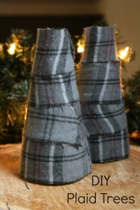DIY Plaid Trees