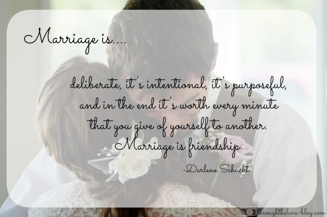 Marriage is Friendship