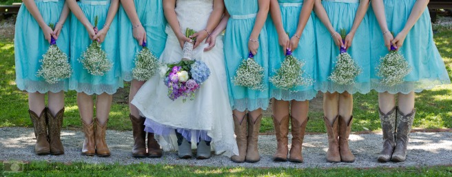 Wedding Boots and Boquets