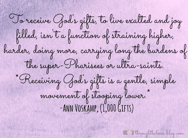 Receive God's Gifts
