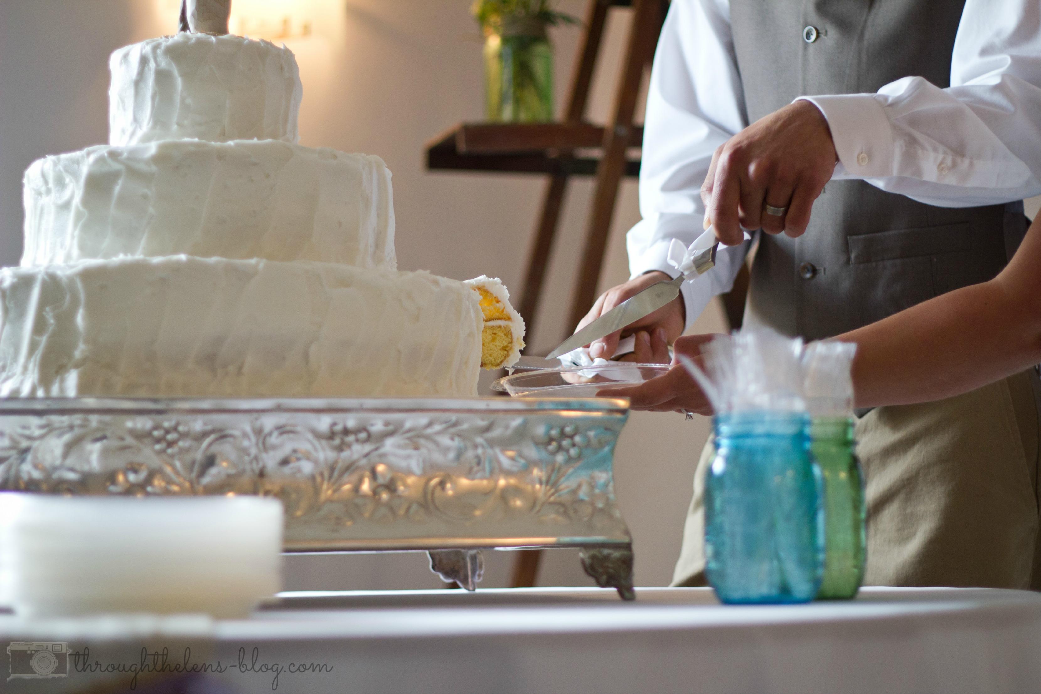 Wedding Wednesday Cake Cutting