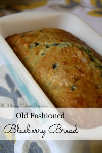 Old Fashioned Blueberry Bread