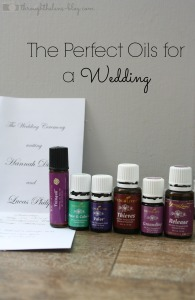 The Perfect Oils for a Wedding