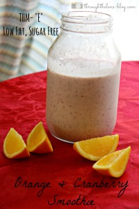 Orange and Cranberry Smoothie